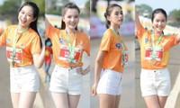 """Hoa hậu Tiểu Vy, Đỗ Thị Hà """"đọ sắc đọ tài"""" trong giải chạy Tiền Phong Marathon 2021"""