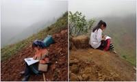 Dù không đủ điều kiện học online, teen miền núi vẫn cố gắng hết sức vượt khó