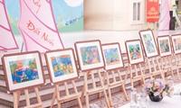 Hàng nghìn học sinh Hà Nội trổ tài vẽ tranh để truyền tải ước mơ về thành phố xanh