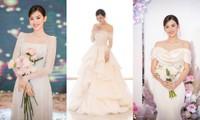 Ngắm 3 mẫu váy cưới của Á hậu Tường San: Lộng lẫy như công chúa, dịu dàng như tiểu thư