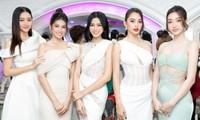 Thêm màn đọ sắc giữa Hoa hậu Đỗ Thị Hà, Tiểu Vy và Mỹ Linh: Ai cũng như nữ thần