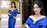 Chọn đúng trang phục trang điểm, Hoa hậu Đỗ Thị Hà xinh đẹp quý phái như công nương