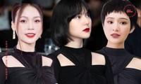 Nhìn 3 người đẹp V-Biz đụng hàng bộ váy đen mới thấy quá mảnh mai chưa chắc đã đẹp