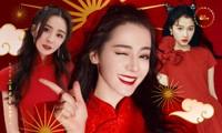 """Sao C-Biz diện đồ đỏ đón Tết: Nhiệt Ba, Dương Mịch hay Quan Hiểu Đồng xứng danh """"công chúa""""?"""
