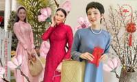 Ngắm sao Việt khoe áo dài ngày Tết mới thấy không phải túi hàng hiệu mà túi cói lên ngôi