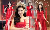 """Dáng chuẩn mặc gì cũng đẹp nhưng màu đỏ mới là """"chân ái"""" của Hoa hậu Đỗ Thị Hà"""