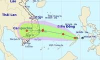 Dự báo đường di chuyển của áp thấp có khả năng mạnh lên thành áp thấp nhiệt đới, bão thời gian tới