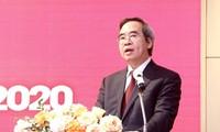 Ông Nguyễn Văn Bình, Ủy viên Bộ Chính trị, Bí thư Trung ương Đảng, Trưởng Ban Kinh tế Trung ương yêu cầu Đảng ủy Khối DN Trung ương tập trung chỉ đạo tiếp tục xử lý có hiệu quả, dứt điểm các dự án kém hiệu quả, thua lỗ.