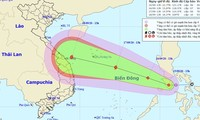 Dự kiến đường đi của Áp thấp nhiệt đới trên biển Đông
