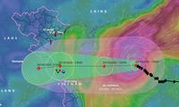 Theo cơ quan dự dự báo khí tượng thuỷ văn Quốc gia, cơn bão số 8 có xu hướng suy yếu khi vào bờ