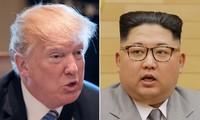 Tổng thống Mỹ Donald Trump và nhà lãnh đạo Triều Tiên Kim Jong-un. (Nguồn: New York Post)