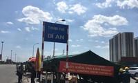 Triển khai chốt kiểm dịch COVID-19 có lưu lượng xe cao nhất vào Sài Gòn