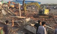Hiện trường vụ tai nạn lao động tại Đồng Nai chiều 14/5