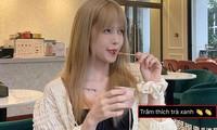 """Fan đồng loạt nhắc đến cụm từ """"trà xanh"""" khi Thiều Bảo Trâm hỏi ăn kem vị gì"""