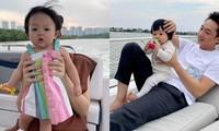 """Đàm Thu Trang gọi yêu con gái là """"Cường con"""", cùng Cường Đôla du ngoạn sông Sài Gòn"""