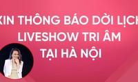 """Vừa thành công ở TP.HCM, Mỹ Tâm phải thông báo dời liveshow """"Tri Âm"""" ở Hà Nội"""