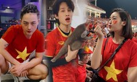 Sao Việt vỡ òa cảm xúc, ăn mừng chiến thắng 4-0 của đội tuyển Việt Nam trước Indonesia