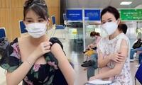 Hoa hậu Lê Âu Ngân Anh, Midu, Quốc Cơ - Quốc Nghiệp chia sẻ gì sau khi tiêm vắc-xin?