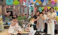 Cường Đôla - Đàm Thu Trang tổ chức tiệc thôi nôi cho con gái, tiết lộ tên thật bé Suchin