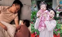 Đặc điểm chung của hai nhóc tì Suchin và Winnie: Cực kỳ quấn bố, đến mẹ cũng phải ghen tỵ