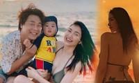Khoe vlog du lịch đầu tiên của bé Bo, Hòa Minzy khiến fan bất ngờ vì vóc dáng sau khi sinh