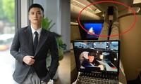 Huỳnh Anh lại bị chỉ trích vì hành động kém duyên khi ngồi máy bay hạng thương gia