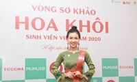 Nữ sinh Chăm mặc áo dài mẹ may thi Hoa khôi Sinh viên Việt Nam 2020