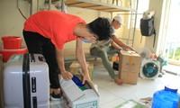 Tình nguyện viên ở Ký túc xá làm nơi cách ly