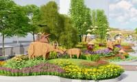 Lộ thiết kế đường hoa Nguyễn Huệ Tết Tân Sửu