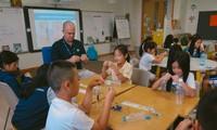 Học sinh một trường quốc tế ở TPHCM trong buổi học với giáo viên nước ngoài. Ảnh: Internet