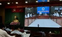 Các đại biểu tại Hội nghị trực tuyến thi THPT QG 2020