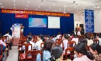 Một buổi tập huấn về Đề án thanh toán học phí qua thẻ SSC tại TPHCM