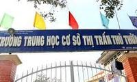 Trường THCS Thị trấn Thủ Thừa nơi xảy ra vụ việc