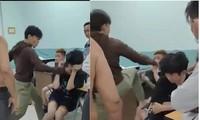 Hình ảnh dân phòng đánh hai thiếu niên bị ghi lại