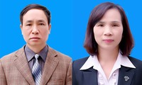Bị can Phạm Văn Khuông và Triệu Thị Chính. Ảnh: Sở GD&ĐT Hà Giang