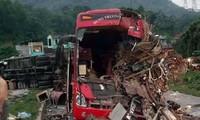 Cận cảnh hiện trươờng vụ tai nạn.