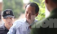 Ông Trần Đức Quý tại phiên tòa sơ thẩm ngày 18/9.