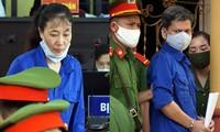 Bị cáo Lò Văn Huynh và Nguyễn Thị Hồng Nga.