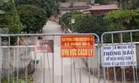 Các chốt phong tỏa thôn Kim Điền, xã Hưng Đạo, TP Chí Linh, tỉnh Hải Dương.