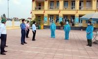 Khu cách ly tập trung tại Trường mầm non Kim Liên, huyện Kim Thành chiều 23/2.