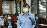 PGS.TS Trần Như Dương phát biểu trong cuộc họp sáng 1/3 tại Tỉnh ủy Hải Dương.