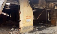 Hiện trường vụ hỏa hoạn xảy ra tại xã Dũng Tiến, huyện Vĩnh Bảo rạng sáng 26/7.