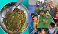 Hình ảnh bữa ăn của trẻ tại Trường mầm non Dương Quan. Ảnh: Phụ huynh cung cấp