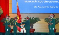 Đại tướng Ngô Xuân Lịch, Bộ trưởng Bộ Quốc phòng trao Quân kỳ Quyết thắng cho Cục GGHB Việt Nam, ngày 5/1