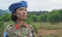 Đại úy Cao Thùy Dung. Ảnh: Nguyễn Minh