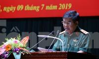 Trung tướng Trần Hữu Phúc trả lời báo chí tại họp báo, chiều 9/7. Ảnh: Đức Văn