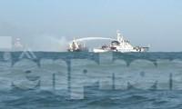 Tàu Cảnh sát biển 4031 tham gia chữa cháy tại hiện trường