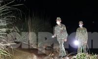 BĐBP tuần tra đêm ngăn chặn người nhập cảnh trái phép trên tuyến biên giới Quảng Ninh. Ảnh: Nguyễn Minh