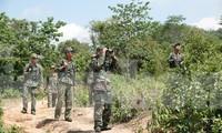 BĐBP Quảng Trị tuần tra chống xuất nhập cảnh trái phép để ngăn dịch COVID-19. Ảnh: Nguyễn Minh