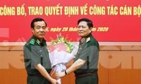 Đại tướng Ngô Xuân Lịch, Bộ trưởng Bộ Quốc phòng và Thiếu tướng Lê Đức Thái tại Hội nghị của Thường vụ Quân ủy T.Ư, tháng 7/2020